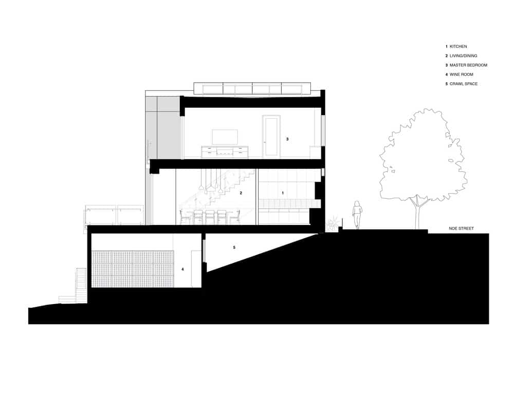 Noe residence house blueprint. Photo credit: Studio Vara