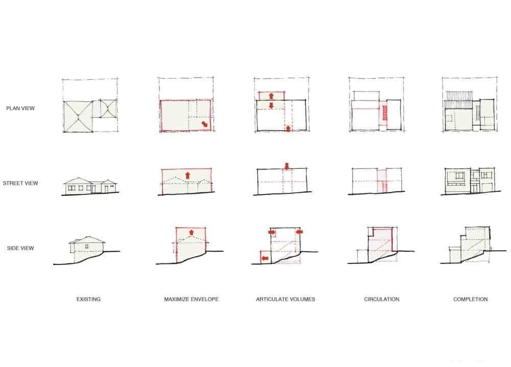 The Noe Residence property blueprint. Photo credit: Studio Vara