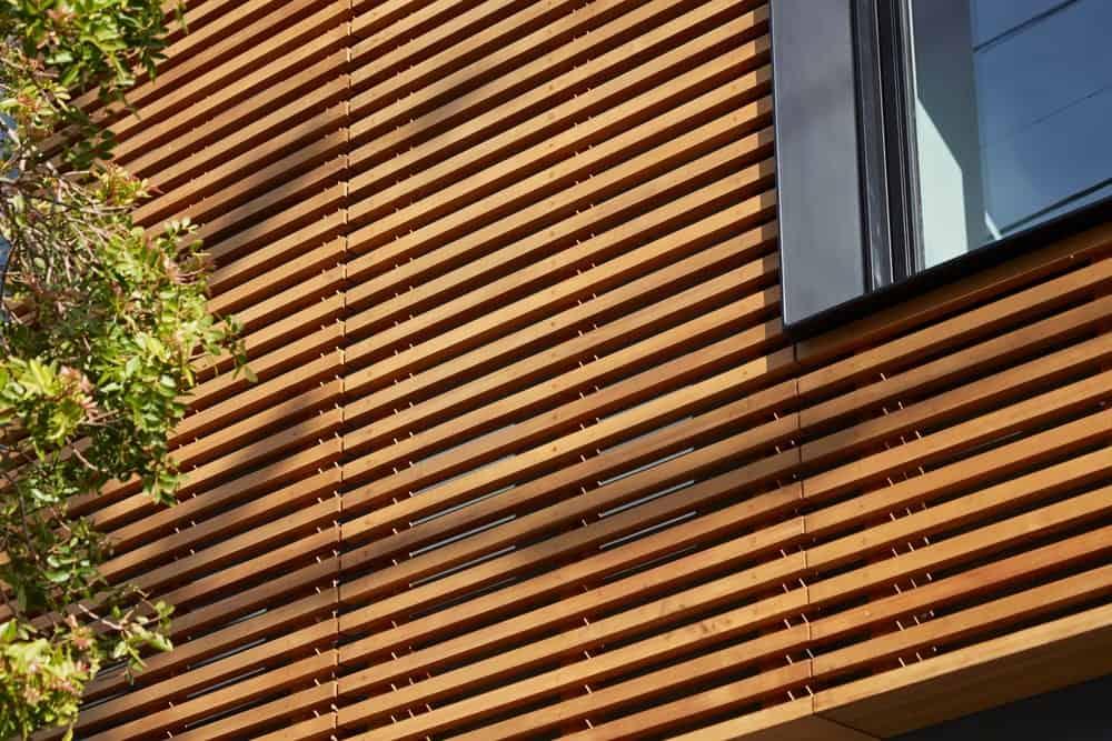 Hardwood part of the modern built of Noe residence. Photo credit: Bruce Damonte