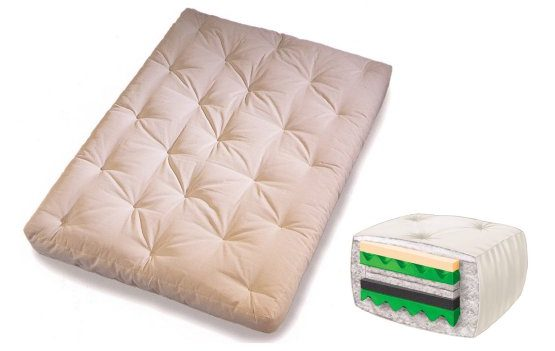 Pink, memory foam futon mattress.