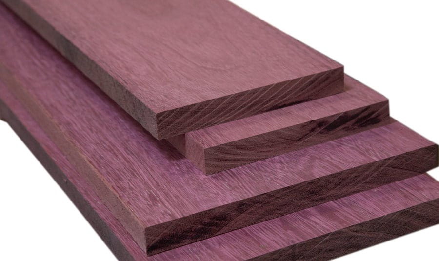 A pile of Purple Heart woods.