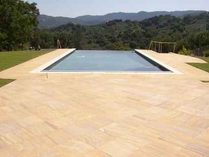 Rainbow pool patio stone