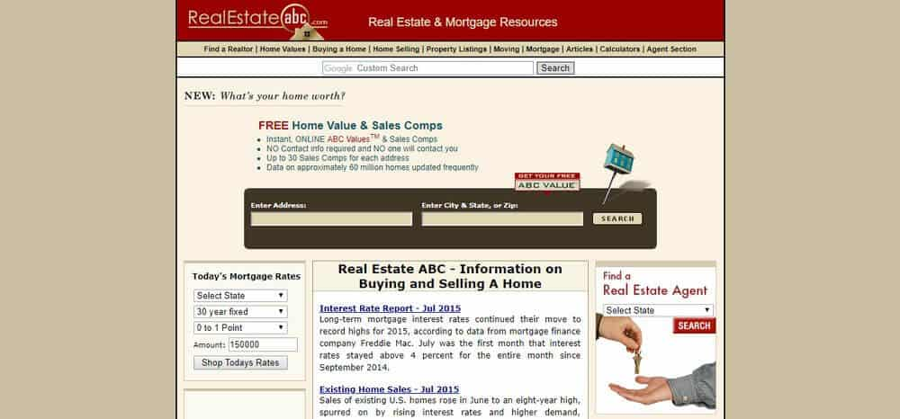 Official website of Real Estate ABC.
