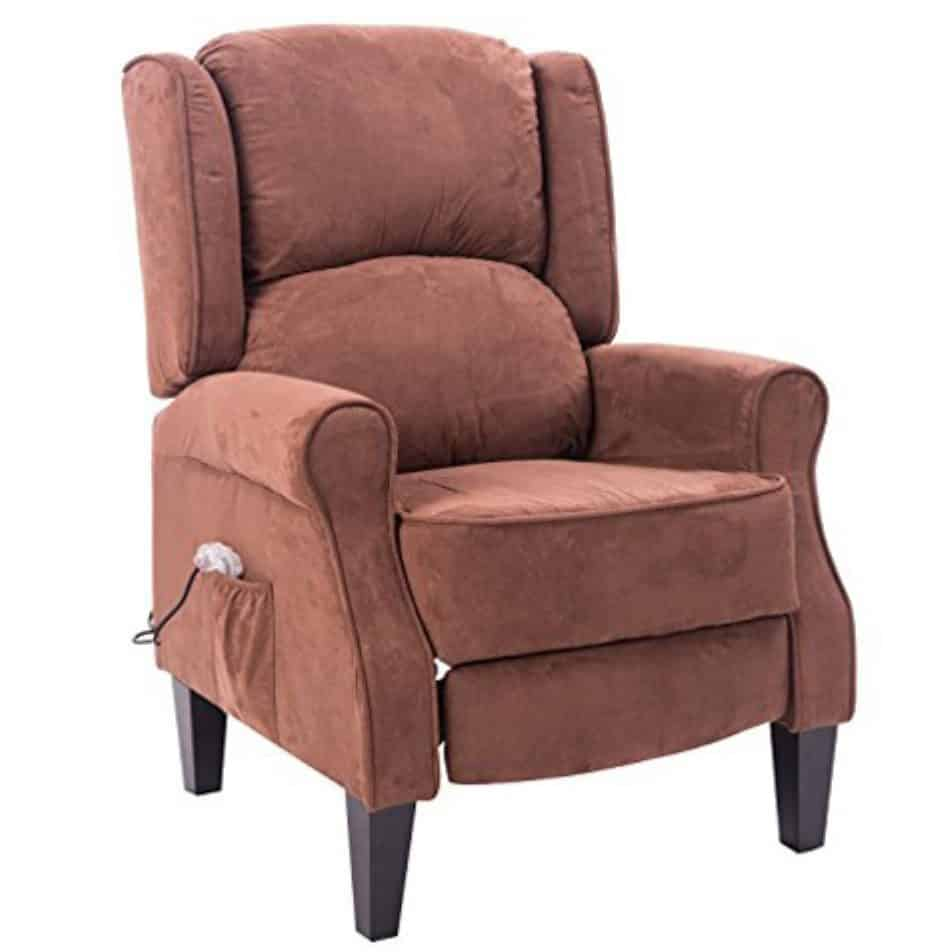 Soft, heated massage recliner on Red.