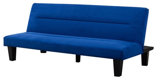 Royal Blue, mircofiber futon sofa bed.