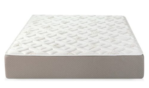 White memory foam mattress with sculpted details.