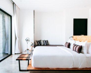 A bed with a high-density mattress.