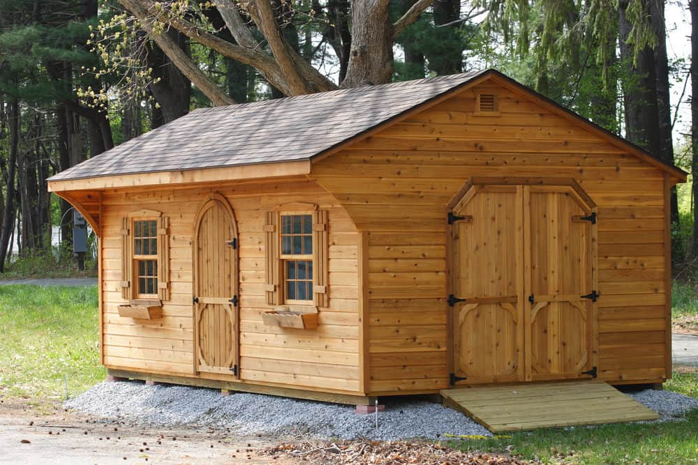 Gable roof backyard shed