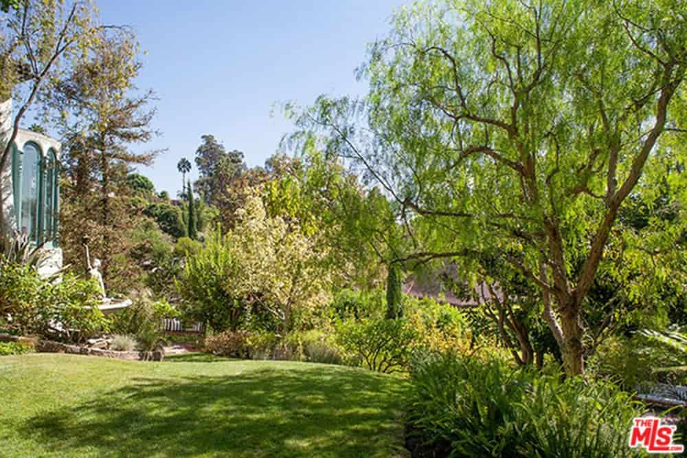 Spacious garden is populated by healthy greens.