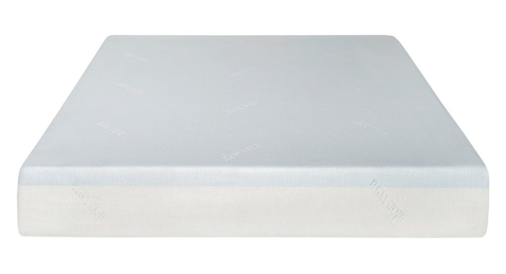 White plush mattress with a smooth finish.