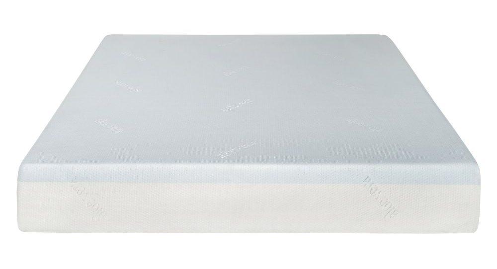 White plush mattress with a smooth finish.