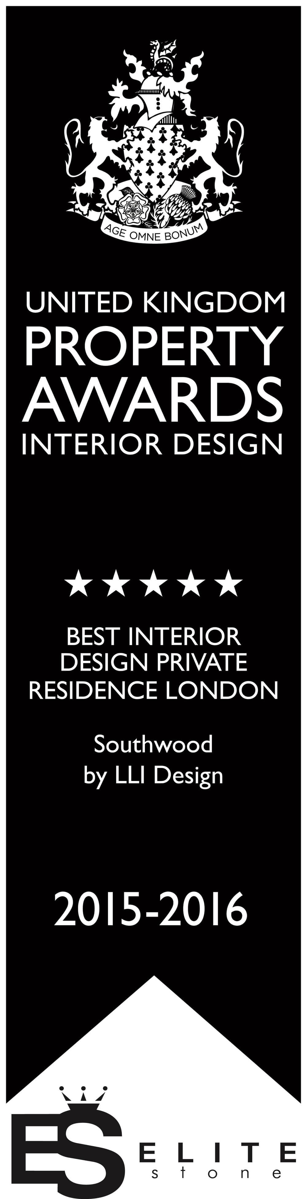 Southwood Residence by LLI Design's property awards. Photo credit: United Kingdom Property Awards