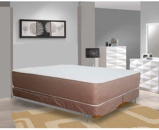 Ultra thick and firm innerspring mattress with high density foam.