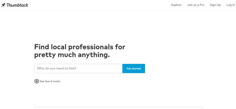 Similar to Angie's List - Thumbtack's home improvement provider online service.