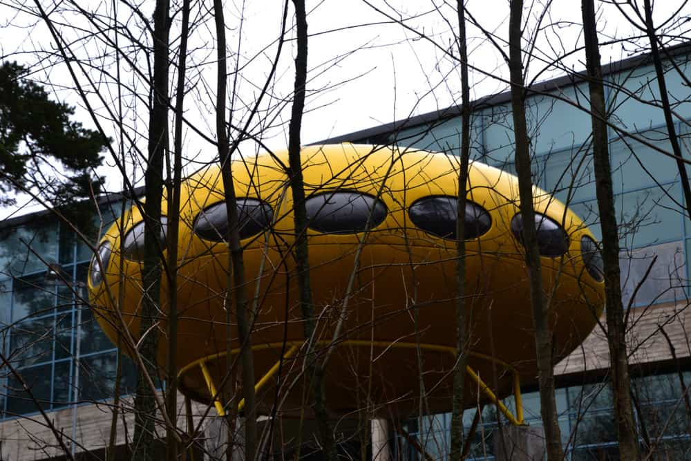 UFO style house in Espoo, Finland. Several of these were built in the 1970's.