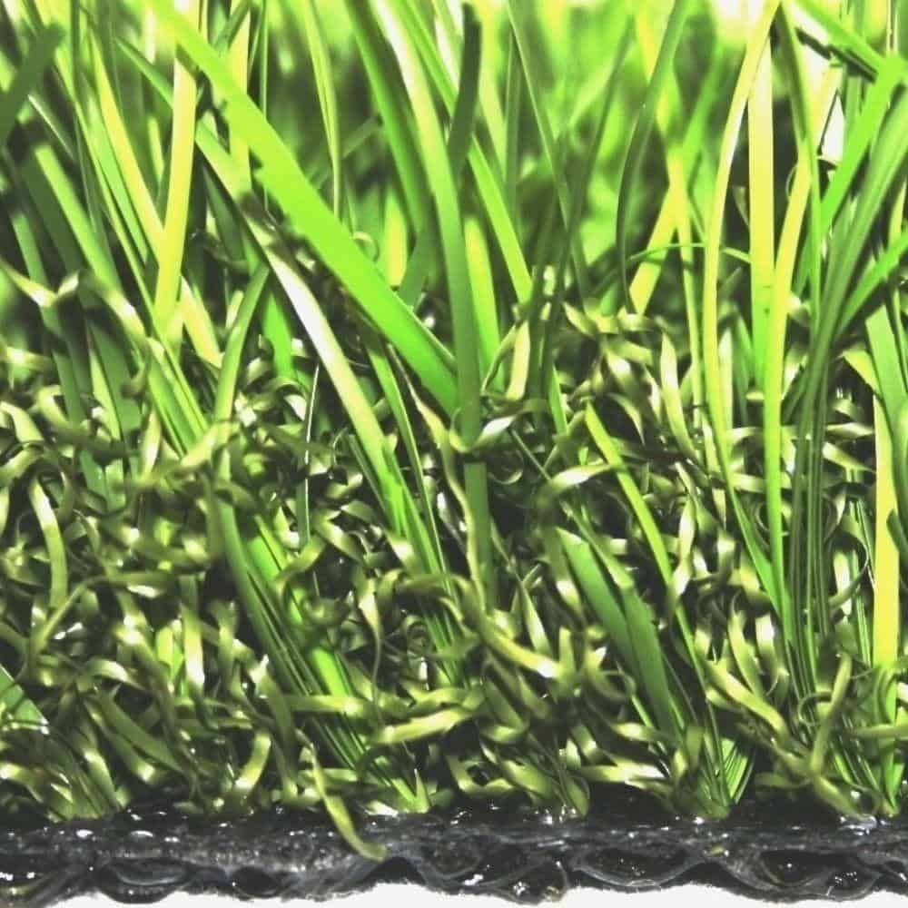 Artificial grass with varied green tones.