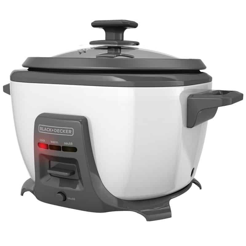 Large 14-cup rice cooker with saute.