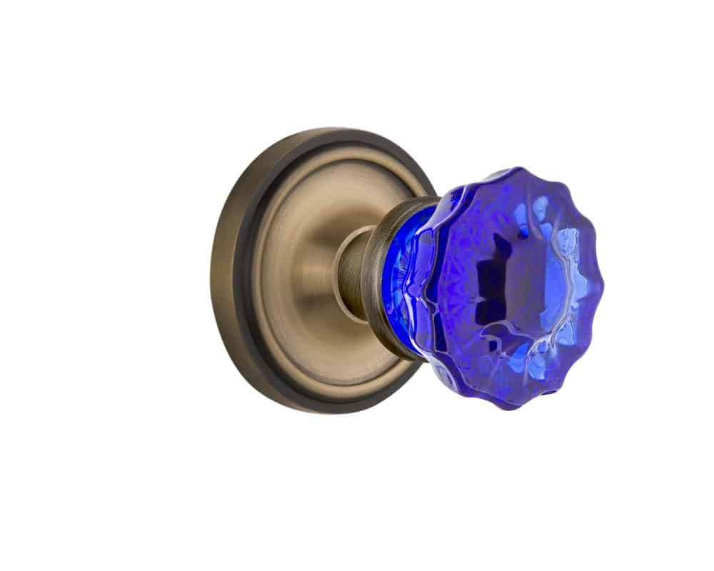 Mortise door knob.