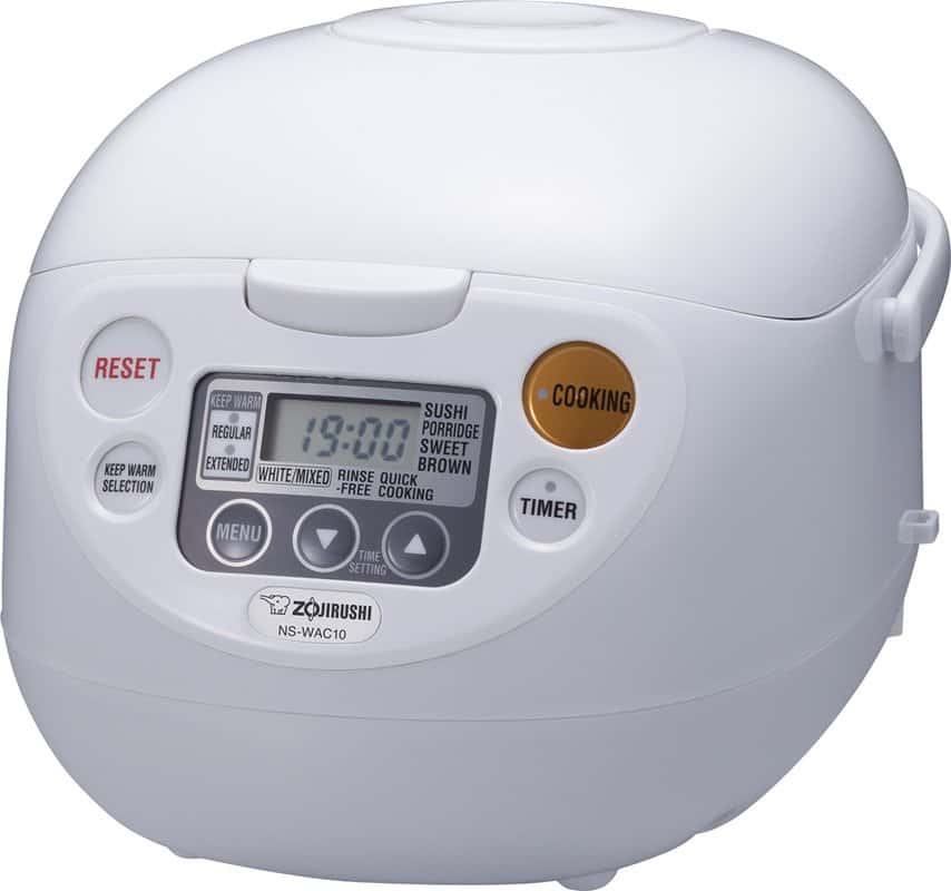 White rice cooker and warmer.