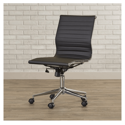 Van Wyck desk chair for lumbar support.