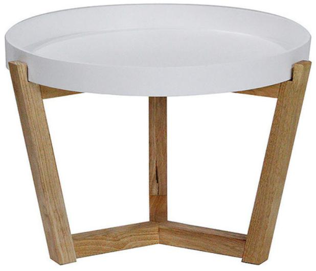 Euro Round White Coffee Table