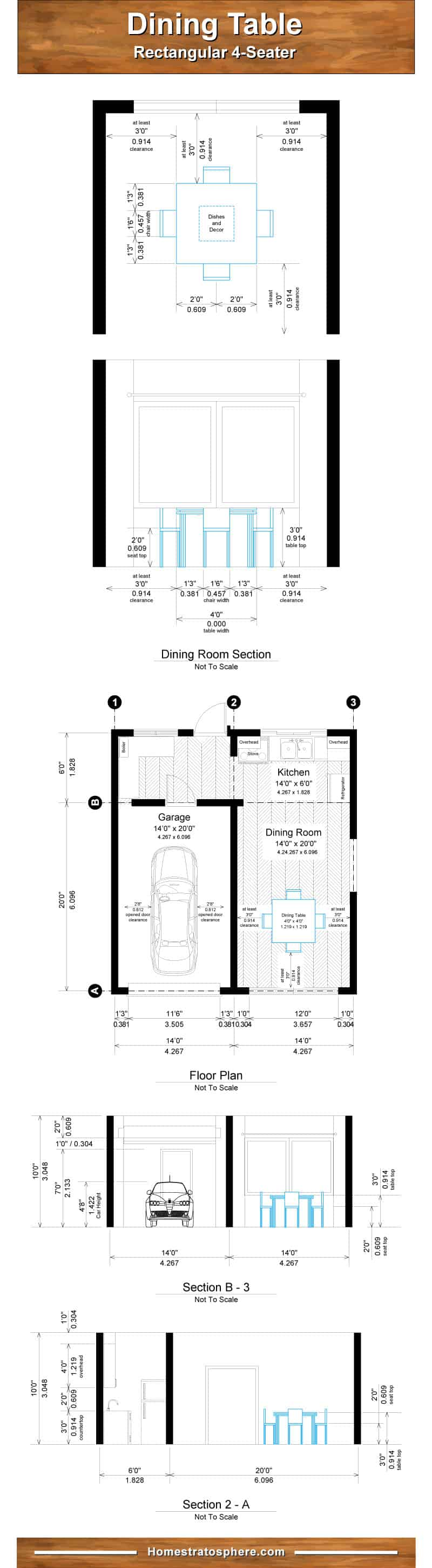 Proper Dining Room Table Dimensions For 4 6 8 10 And 12