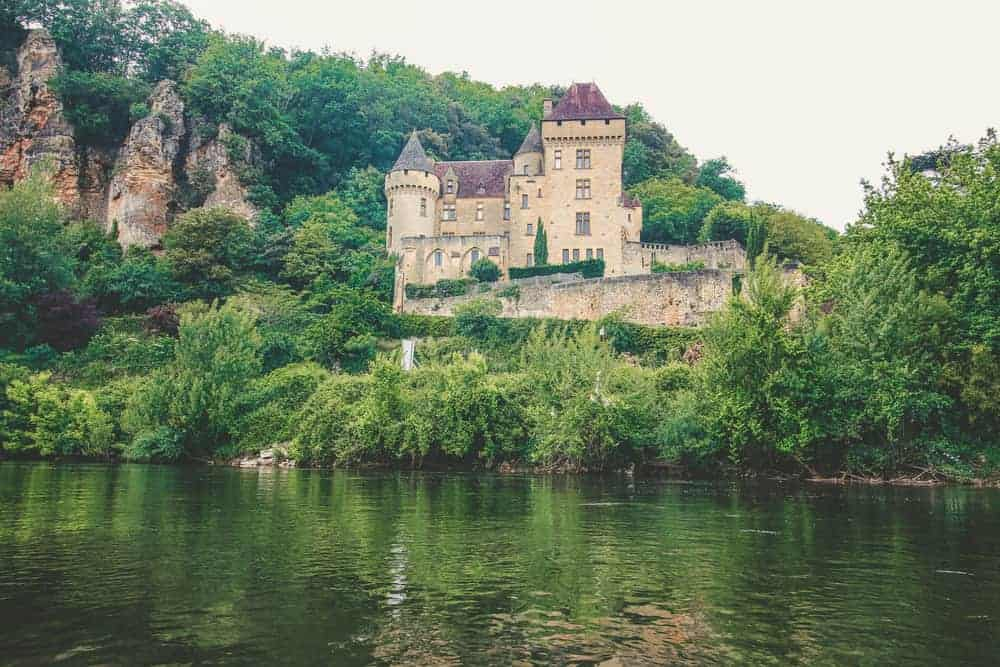 French Chateau on river