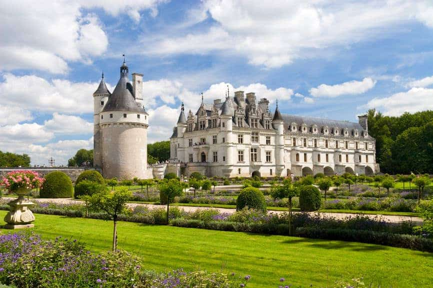 Chenonceaux castle in France.