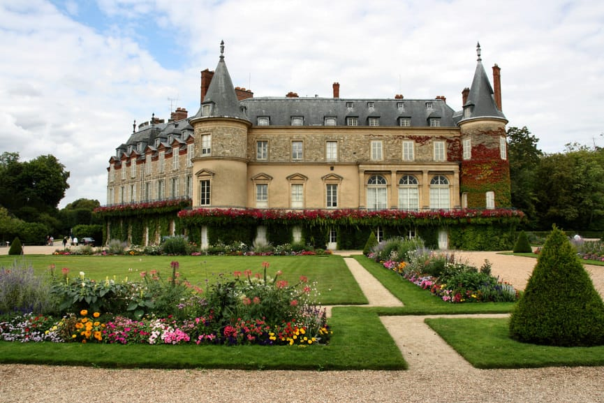 Palace and gardens of Chateau Rambouillet, France