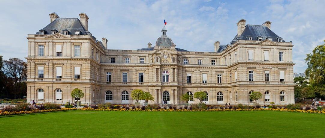 The palace of Jardin du Luxembourg. Paris. France