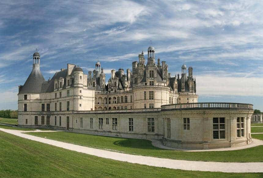Chambord Castle on the Loire River in France.