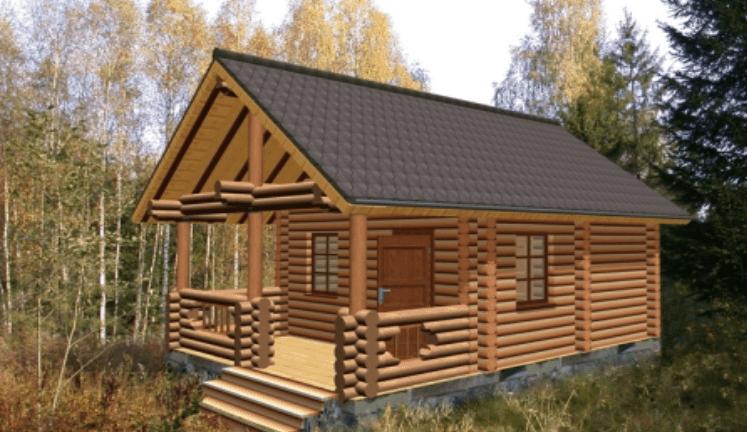 K3-Cottage Log House Design Software 3D Render Sample