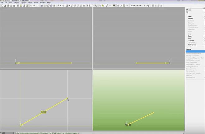 K3-Cottage Log House Design Software Coordinates
