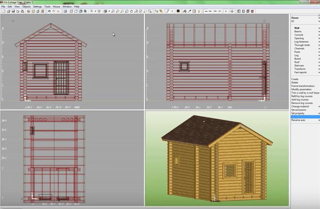 K3-Cottage Log House Design Software Final Result