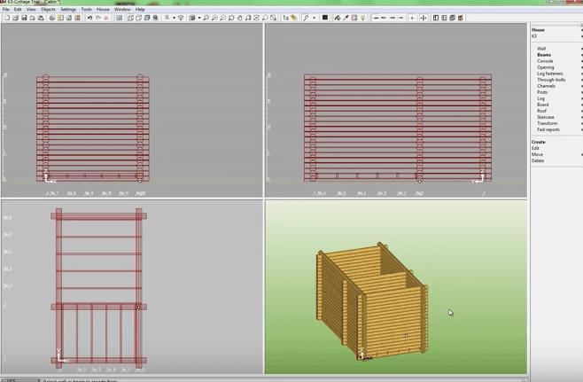 K3-Cottage Log House Design Software Interior