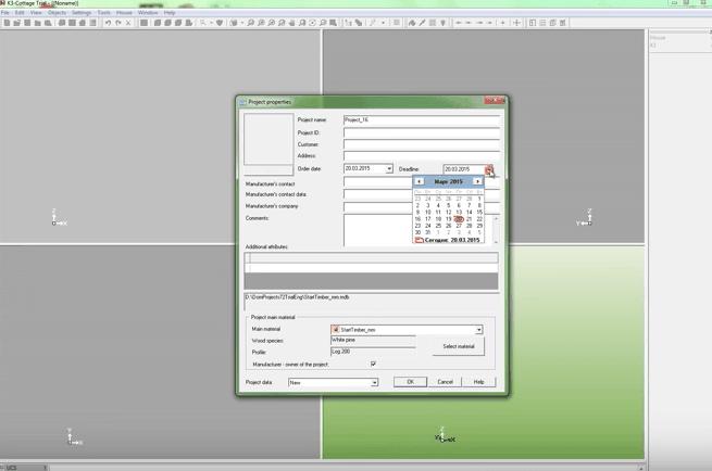 K3-Cottage Log House Design Software New Project