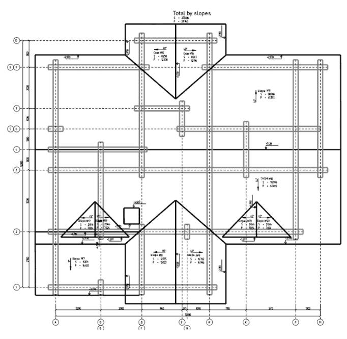 K3-Cottage Log House Design Software Roof Plan