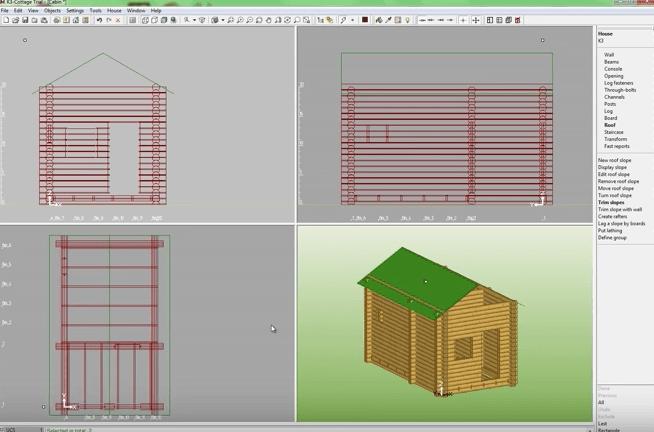 K3-Cottage Log House Design Software Roof