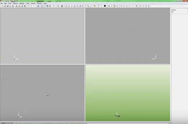 K3-Cottage Log House Design Software User Interface
