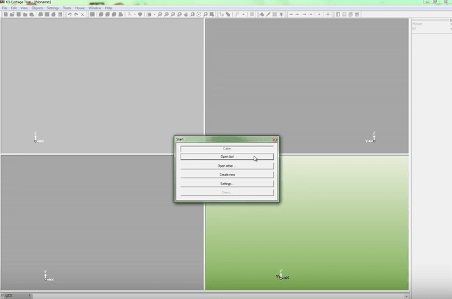K3-Cottage Log House Design Software Welcome Screen