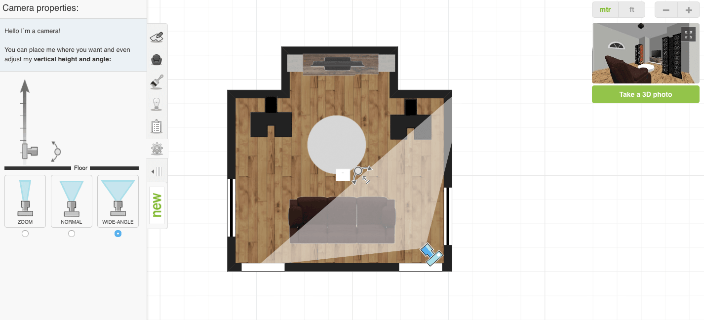 Roomstyler 3D Planner Camera