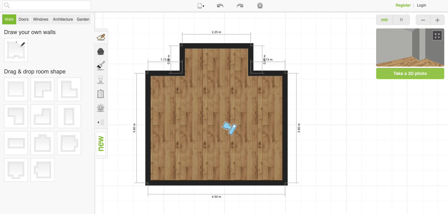 Roomstyler 3D Planner Walls