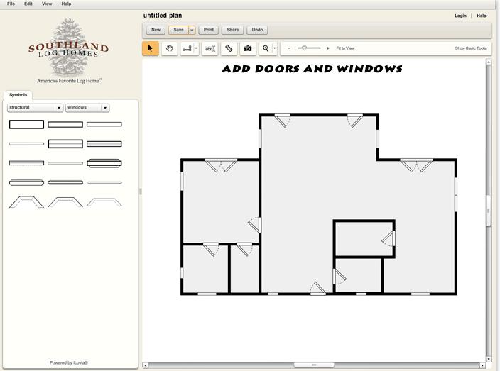 Custom Log Home Design Tool Doors and Windows