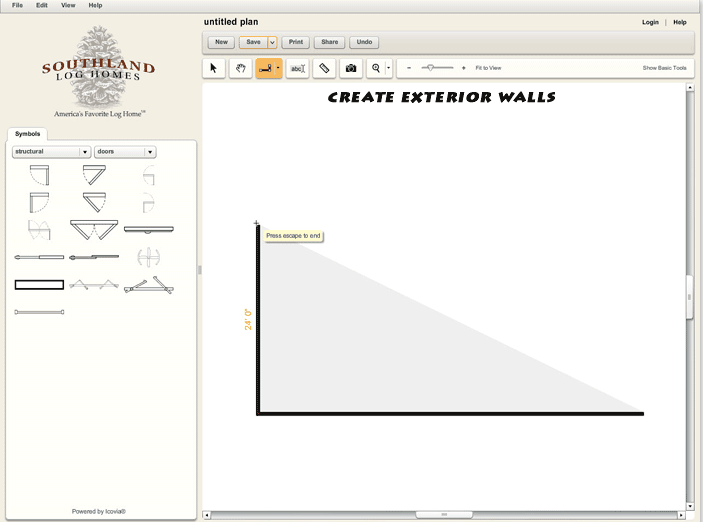 Custom Log Home Design Tool Exterior Walls
