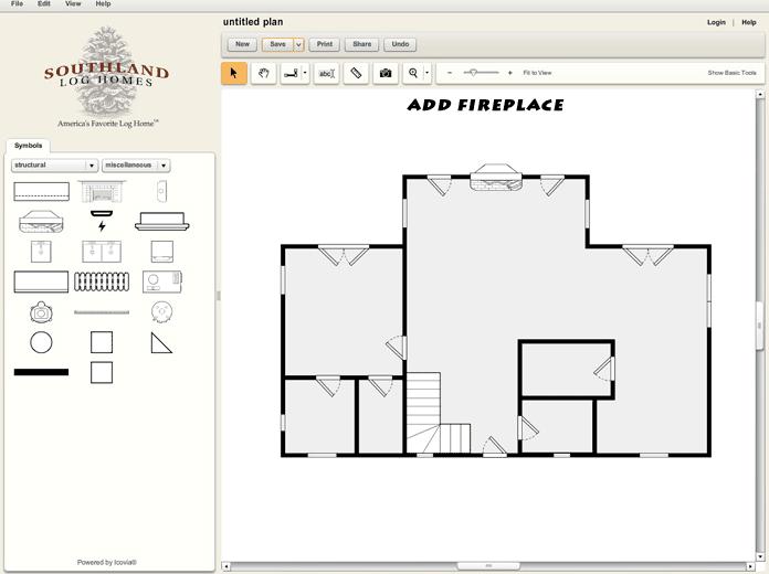 Custom Log Home Design Tool Fireplace