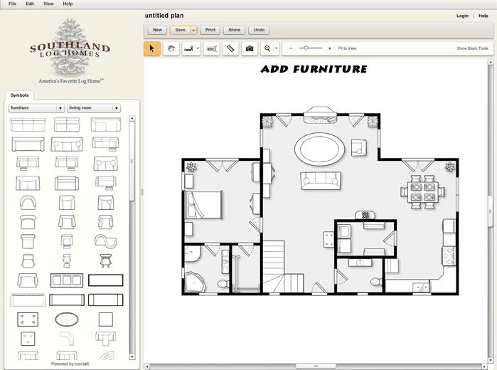 Custom Log Home Design Tool Furniture