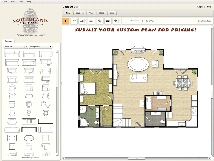 Custom Log Home Design Tool Submit