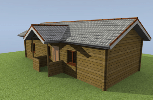 Visual Building Premium Log Home