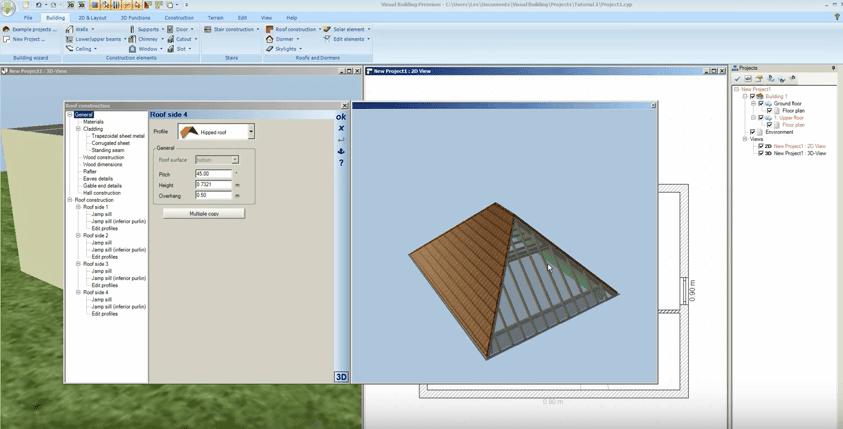 Visual Building Premium Roof