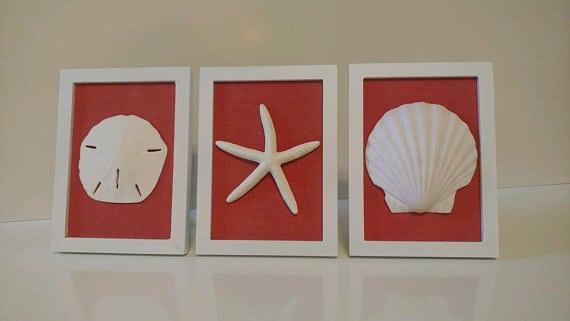 A set of simple beach wall art.